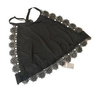 Aerie NWT black High neck Lace Bralette
